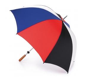 Fulton S652 Зонт-гольфер «Черный-красный-синий-белый» Fairway